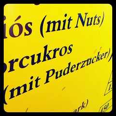 mit puderzucker (eFB) Tags: yellow pancakes typography ipod nuts balaton puderzucker instagram