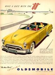 Olds 1949 Rocket 88  convertible (ROGALI) Tags: car convertible anuncio carro oldcar 1949 olds oldsmobile automovil rocket88 carad futuramic rocketengine