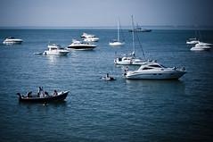 Summer Dollars (Robee Shepherd) Tags: sea people boats isleofwight totlandbay