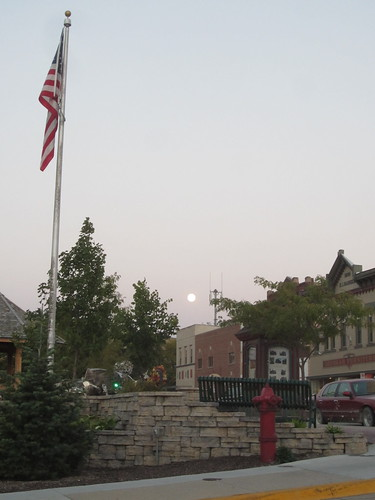 Moon Rise Over Downtown Decorah