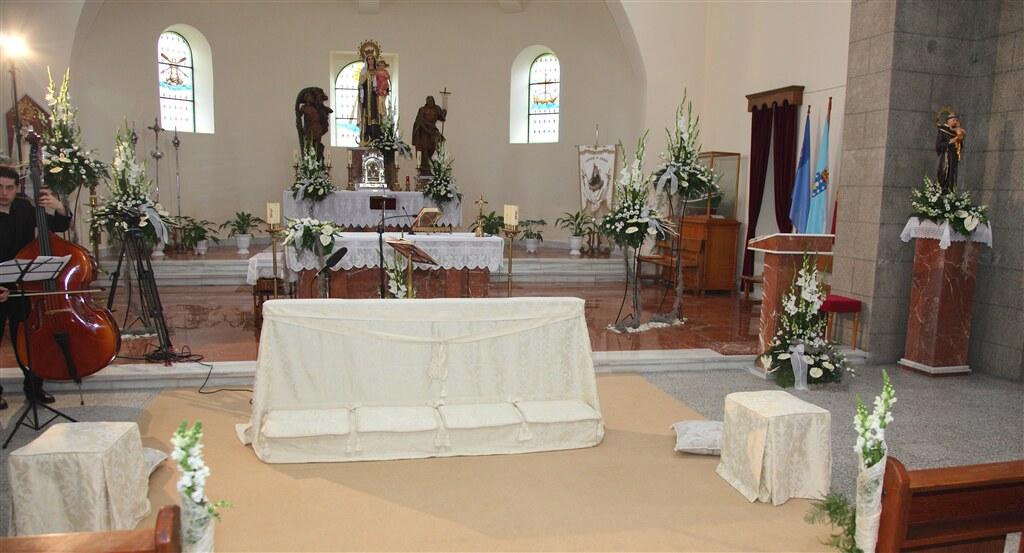 arreglo iglesia para boda