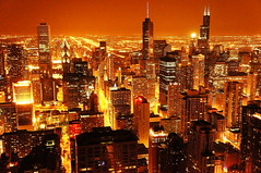 Lava City! (Suprabh Snehi) Tags: city light red wallpaper chicago color sexy tower skyline architecture contrast lava photo illinois downtown view bright searstower sony towers aerial best sharp clear business heat electricity manmade latest tall wallpapers trumptower johnhancock hue downtownchicago highiso lightpollution tallest highexposure lettherebelight gothamcity 21stcentury aeriel nex trumpinternationalhotel chicagonight hotcity saveelectricity businesscity vibrantcity glowingcity sel1855 nex5n suprabh