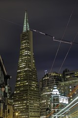 TransAmerica Pyramid: Standing Tall (KP Tripathi (kps-photo.com)) Tags: sanfrancisco light building clouds skyscraper francis evening dusk trail transamerica lighttrail fordcoppola canon5dmarkiii kptripathi