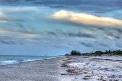 Manasota at Dawn (Tonemapped) (flutterbye216) Tags: sky beach clouds dawn sand gulf hdr canon60d