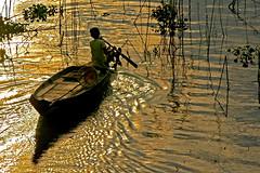 DSC_3978 (ichauvel) Tags: lake water reflections landscape kid asia cambodge cambodia eau child lac asie paysage enfant reflets tonlesap prektoal