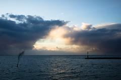 Heaven's Gate (martinstelbrink) Tags: sunset sky sun clouds germany harbour northsea hafen nordsee baltrum wattenmeer niedersachsen lowersaxony zeissbiogon25mmf28 biogon2528zm cornerfix cornerfixed nex7 voigtlndernexvmadapter
