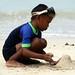 Catelinho na areia