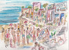 HANGIN' OUT ON THE STRAND, AUGUST 2012 (roberthuffstutter) Tags: strand milliondollarrealestate hanginoutinmanhattanbeachca california sunnysoutherncalifornia californiadreaming robertlhuffstutter impressionism bobhuffstutter artmarketusa watercolorsbyhuffstutter style huffstutter expressionism southbaywatercolors southbayscenes beachcities originalsavailable signedcopiesavailable 1960scalifornia watercolorsofsouthbay strandwatercolors huffstutterssouthbayart