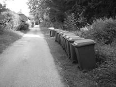 Country wheelie bins (NormalWolfUK) Tags: countryside country bin lane wiltshire bins wheelie warminster
