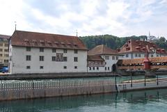 Lucerne - History Museum & Spreuerbrücke Pfistergasse (Le Monde1) Tags: history museum switzerland town nikon luzern altstadt lucerne canton vierwaldstättersee swissalps lakelucerne d60 spreuerbrücke riverreuss pfistergasse lemonde1
