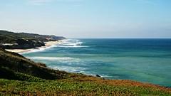 first day of autumn at the beach (* Patrícia *) Tags: ocean blue sea sky green praia beach de mar sand day waves cloudy areia sony céu pedro areal são leiria moel sãopedro spedro sãopedrodemoel