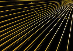 Merging (Chas56) Tags: abstract lines stainlesssteel chrome linear merging benchseat steelbars samsungphonecamera merginglines