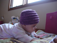 DSC04131 (k1sewtoo) Tags: baby hat infant crochet jordan flapper cloche 2012 4mos flapperhat 2012fall 2012september
