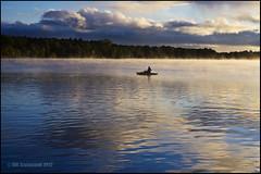 Morning Serenity (Cliffwix) Tags: mist reflection clouds sunrise boat fishing pentax michigan k5 bestofweek1 bestofweek2 bestofweek3 bestofweek4 lakecadillac 0912sh8