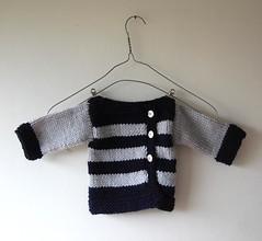 Chaleco para guagua / Baby cardigan (~ tilde ~) Tags: boy baby handmade knit bebe nio cardigan tejido hechoamano chaleco