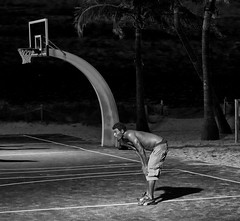 END GAME (Chuck LaChance) Tags: shirtless blackandwhite bw men basketball noiretblanc
