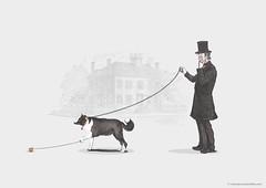 Walking The Dog (Jaakie201) Tags: dog animal shirt illustration walking design retro parody trick jojo yoyo
