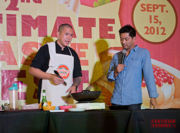 Cooking demo at the Ultimate Taste Test