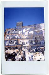 cliff dwellers (david  lindley) Tags: columbus ohio usa film america mural fuji instant highstreet shortnorth cliffdwellers ndfilter davidlindley miniinstax