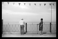 Always Together (Riccardo Gentile) Tags: street people bw grandparents kodaktrix oldpeople 50mm12 nikonf3 sicilia trix400 kodaktrix400 coolscanv film:iso=400 film:brand=kodak 50mm12ais ilfordilfosol3 developer:brand=ilford film:name=kodaktrix400 developer:name=ilfordilfosol3 nikonclubit filmdev:recipe=7950