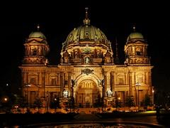 Berlin Cathedral (Matthias Harbers) Tags: light berlin night canon germany deutschland evening abend licht cathedral nacht dom kirche powershot labs dxo tvtower topaz g11 vergangenheit fehrsehturm