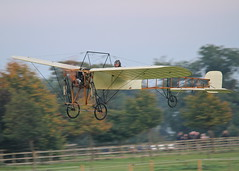 Bleriot XI monoplane c/n 14 (G-AANG) - the world's oldest, airworthy aeroplane with the earliest aero-engine in flying condition (stancs) Tags: shuttleworth shuttleworthcollection oldwarden gaang bleriotxi autumnairdisplay oldestaeroplane