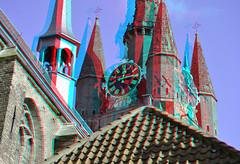 Oudekerk Delft 3D (wim hoppenbrouwers) Tags: 3d anaglyph delft stereo oudekerk