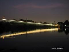 Light Streak at dusk (The White beast lover...) Tags: landscape er trains lightstreak indianrailways irfca easternrailway
