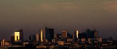 Skyline (\Nicolas/) Tags: paris building glass skyline golden la tour pollution hour pause goldenhour verre dfense longue