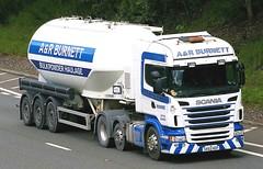 SCANIA - A & R BURNETT Doune Stirling (scotrailm 63A) Tags: trucks tankers lorries