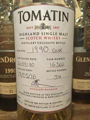 Tomatin 1990 Cask Strength 54.4% (eitaneko photos) Tags: 2016 june whisky malt bottles single cl tomatin 1990 cask strength 544