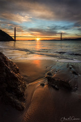 The Rising (Aron Cooperman) Tags: aroncooperman cal california goldengatebridge kirbycove november2015 openlightphoto sanfrancisco sanfranciscobay sausalito wbpa beach escaype nikond800 northerncalifornia ocean pacificocean reallyrightstuff sand seascape sunrise water waves sunstar sunshine sea seaside coast shoreline