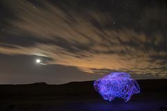 Entropa (Hellscream #22) Tags: lightpainting nocturna noche desierto desiertodeatacama night moon stars luna estrellas atacamadesert desert d3100 chile chileflickr sanfranciscodechiuchiu calama