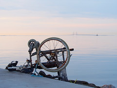 Copenhagen 2016 (hunbille) Tags: denmark amager amagerstrandpark strand strandpark beach sunrise dawn summer bath oresund resund water sea kbenhavn copenhagen bridge resundsbroen oresundbridge wheelchair