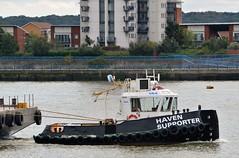 Haven Supporter(2) @ Gallions Reach 12-09-16 (AJBC_1) Tags: london havensupporter dlrblog ajc newham northwoolwich londonboroughofnewham eastlondon england unitedkingdom uk ship boat vessel marineengineering nikond3200 tug tugboat collinswateragelighterage gallionspoint pontoon stantug1205 damen damenshipyardsgroup williamsshipping wilcarry1711 riverthames gallionsreach