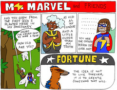 Ms. Marvel and Friends 11 (Arpad Okay) Tags: msmarvel kamalakhan storm xmen marvel comics bazookajoe oldlace ol runaways chrisclaremont magik jonathanswift andywarhol quotes