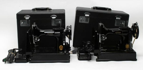 Singer Featherweight Sewing Machines w/ Cases ($313.60, $324.80)