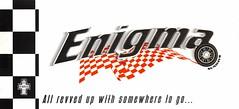 Enigma Sundays (Mary Hawkins) Tags: flyer clubkid london 1998 summer misfire carculture checkeredflag