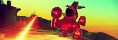 Meet the Neighbours (D u b l) Tags: video games hello no mans sky nms havoc space sunset ships ship sentinel attack laser beam