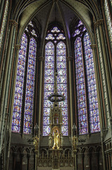 Amiens Lady Chapel (Lawrence OP) Tags: france amiens cathedral apse gothic medieval stainedglass blessedvirginmary ladychapel