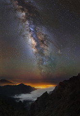 Flying through clouds (Perez Alonso Photography) Tags: lapalma milkyway clouds seaclouds night nightscape light valactea mountains canarias sky universe galaxy perez fotografia nocturna fotografanocturna
