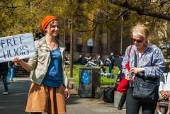 Free Hugs! (jayta3) Tags: hugs australia melbourne street photography girl sign