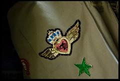Bag Detail (zweiblumen) Tags: bag rucksack manxmuseum douglas doolish isleofman ellanvannin canoneos50d polariser zweiblumen photoshopcs4