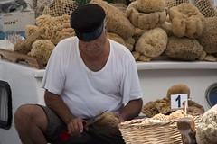 The sponge fisherman (ramosblancor) Tags: humanos humans gente people seor man hombre pescador fisherman esponjas sponges tradicin tradition egeo aegean mar sea lacanea chania creta crete grecia greece viajar travel