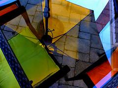 Table Manners (Book'em) Tags: patio color colour geometry geometric fuji fujifilm x10 toronto backyard home
