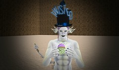 Twisted (ReignShadow) Tags: firestorm secondlife twisted hunt cupcake divination blue prize