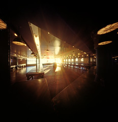 It is light's party (Zeb Andrews) Tags: realitysosubtle6x6 pinhole film mediumformat 6x6 goldenhour seattle market pikeplacemarket light washington cityscape pacificnorthwest