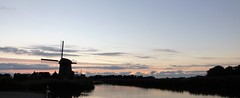 Silhouet (peeteninge) Tags: molen mill dutch holland sunset zonsondergang water evening avond outdoor
