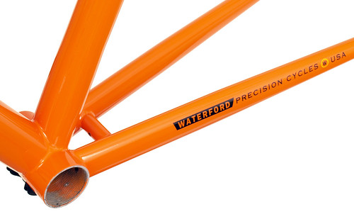 <p>Bottom Bracket from Waterford 14-Series Vision frame with 1980's Eddy Merckx Orange styling - 63981.</p>
