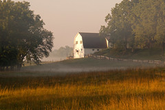 Fall is in the Air (Kathy~) Tags: fog morning barn rural dexter michigan empty herowinner ultraherowinner 2012 2012fb find fotocompetition fotocompetitionbronze gamewinner gamex2sweepwinner thepinnaclehof tphofweek255 kanchenjungachallengewinner 15challengeswinner instagram